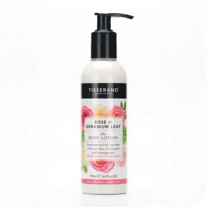Tisserand-Aromatherapy-Rose-and-Geranium Leaf-Body Lotion