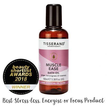 Muscle Ease Bath Oil Beauty Shortlist Award Winner 2018 Best Stress-Less, Energise or Focus Product