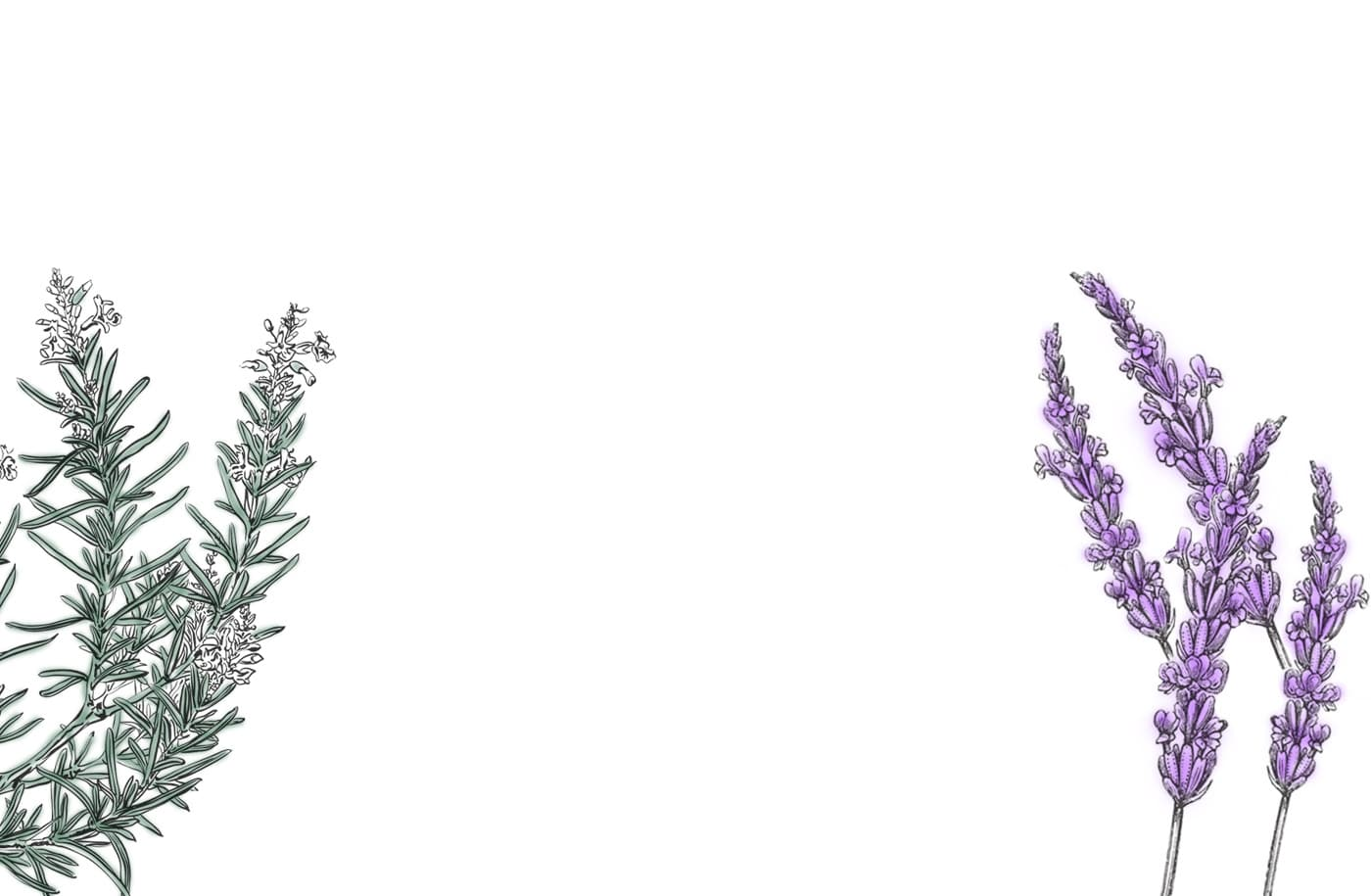 Wellbeing-rosemary-lavender-background