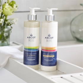 Tisserand Ascot body wash and lotion
