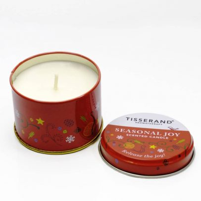 Seasonal Joy Candle with lid