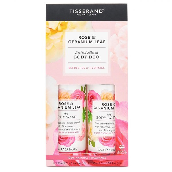 Rose & Geranium Body Duo