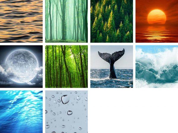 Sleep Music Image collage