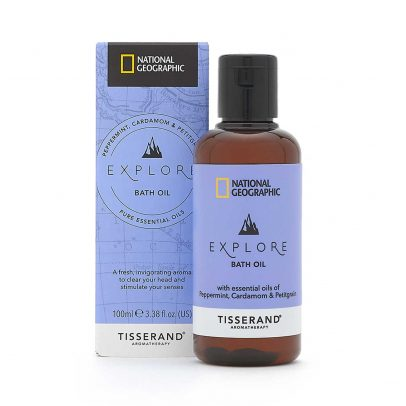 Explore Bath Oil - Tisserand Aromatherapy x National Geographic carton