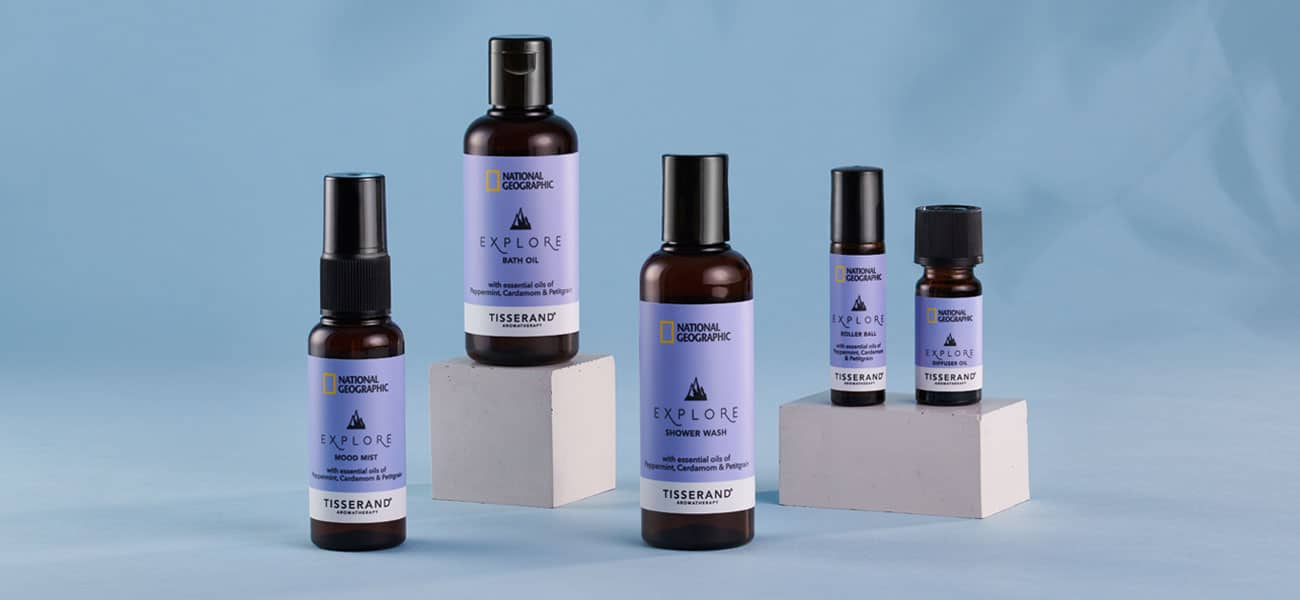 National Geographic and Tisserand Aromatherapy Travel Wellbeing Explore Collection