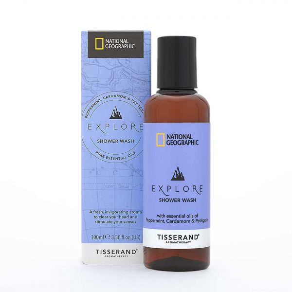 Explore Shower Wash - Tisserand Aromatherapy x National Geographic carton