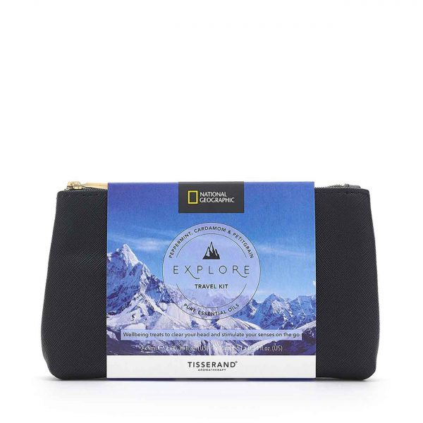 Explore Travel Kit - Tisserand Aromatherapy x National Geographic bag
