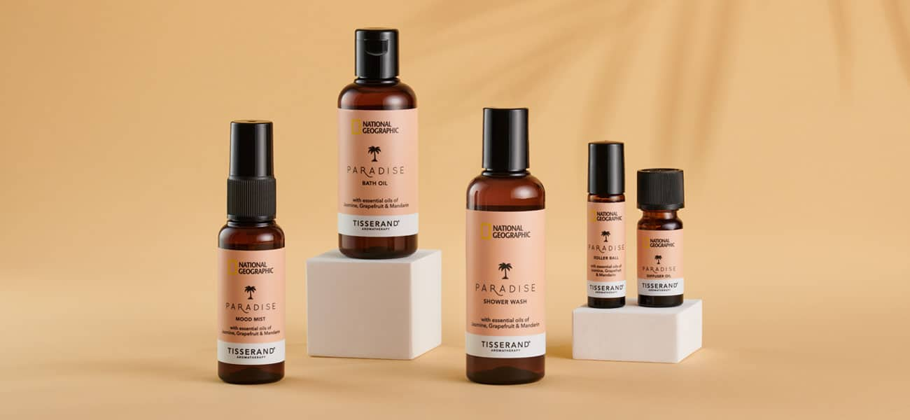 National Geographic and Tisserand Aromatherapy Travel Wellbeing Paradise Collection