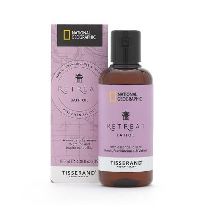 Retreat Bath Oil - Tisserand Aromatherapy x National Geographic carton