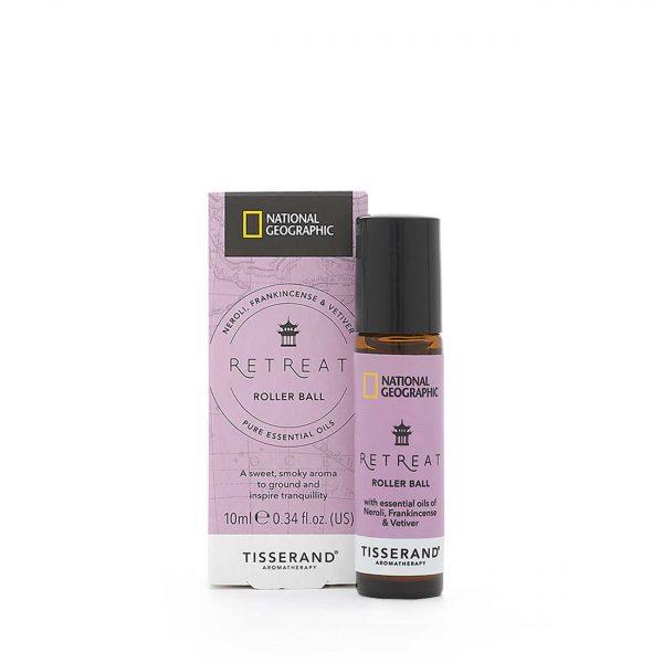 Retreat Roller Ball - Tisserand Aromatherapy x National Geographic carton