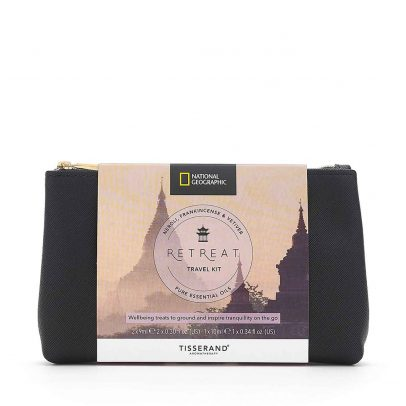 Retreat Travel Kit - Tisserand Aromatherapy x National Geographic bag