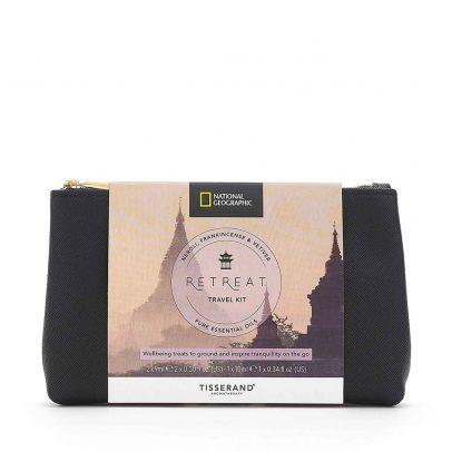 Retreat Travel Kit - Tisserand Aromatherapy x National Geographic bag