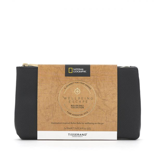 Wellbeing Escape Roller Ball Collection - Tisserand Aromatherapy x National Geographic bag