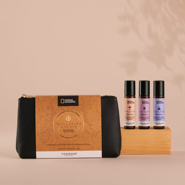 Tisserand Aromatherapy x National Geographic Wellbeing Escape Roller Ball Collection