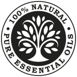 100% Natural Essential Oils logo