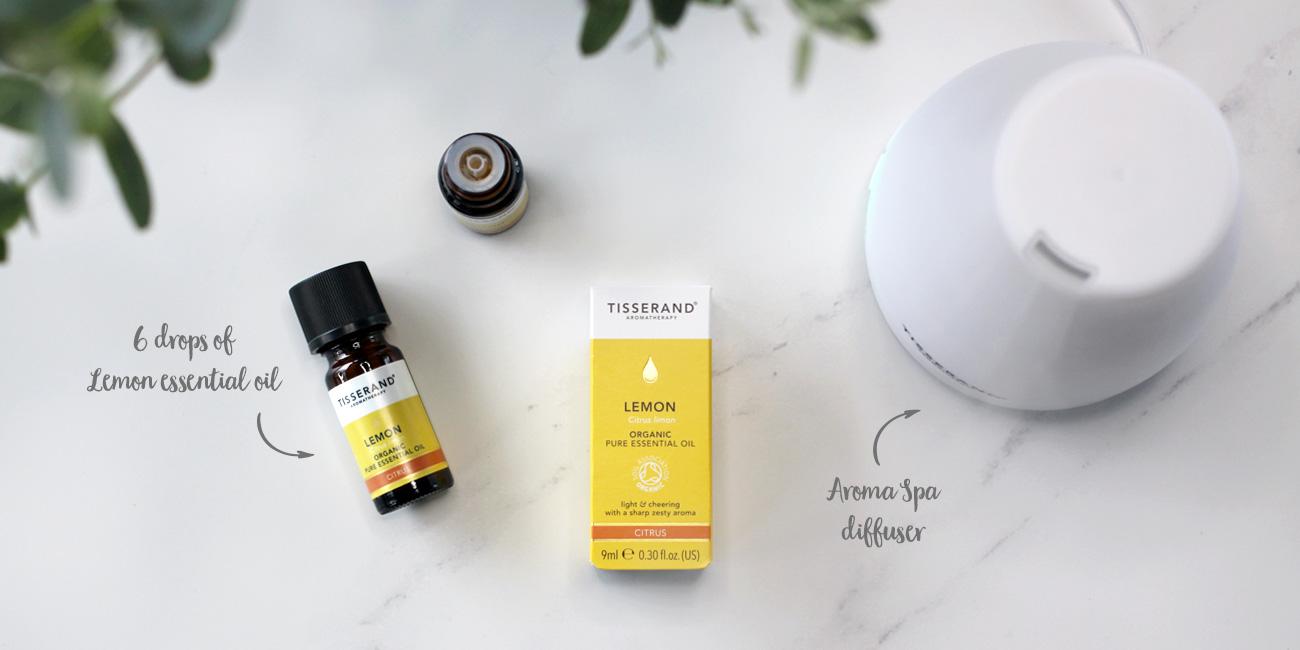 Tisserand Aromatherapy Lemon essential oil for cold and flu season
