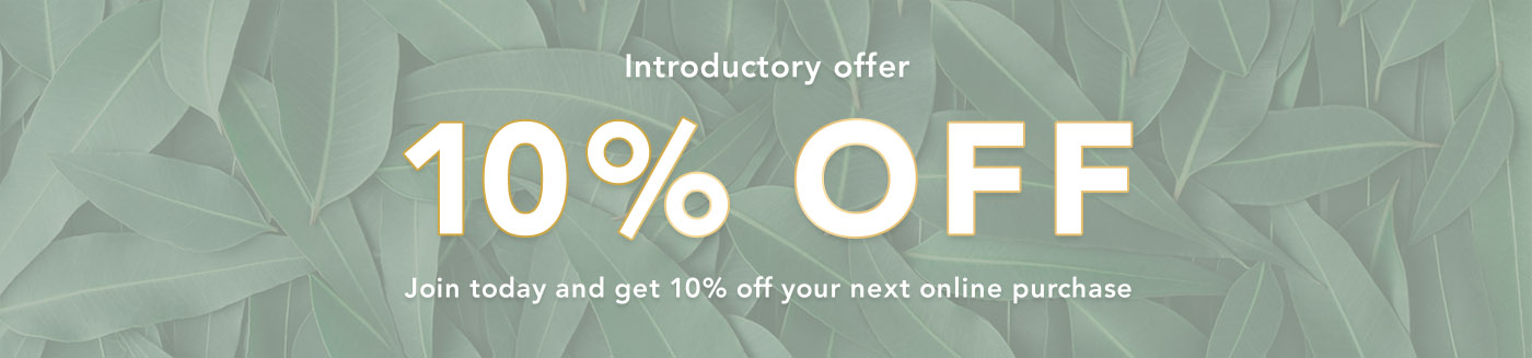 10 percent off - join today