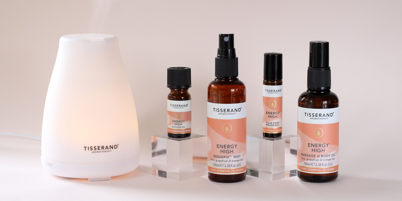 Tisserand Aromatherapy Energy High collection